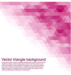 triangle background cover or invitation card vector image vector image