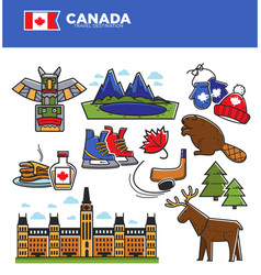 canada tourism travel landmarks and culture famous vector image