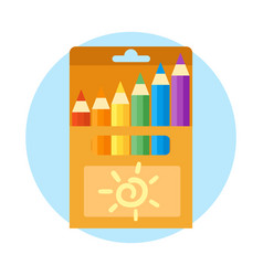 colored engineering office and pencils vector image