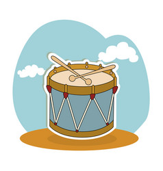 drum instrument isolated icon vector image