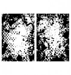 halftone grunge frame vector image