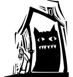 Monster House vector image