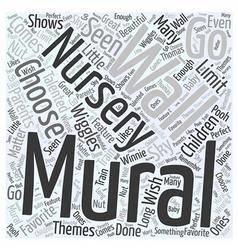 Nursery wall murals word cloud concept vector