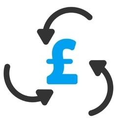 Pound swirl flat icon symbol vector