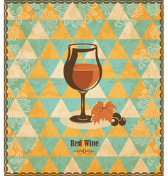 Red wine mosaic pattern vector image