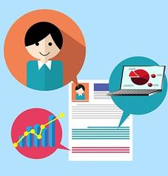 Search people job profile vector