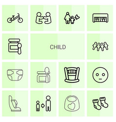 14 child icons vector