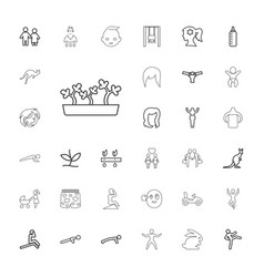 33 young icons vector