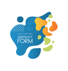 abstract form logo design original brand identity vector image
