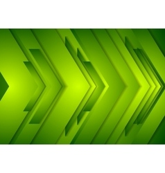 Abstract shiny tech background Green vector image