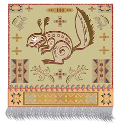 American Indian squirrel vector image