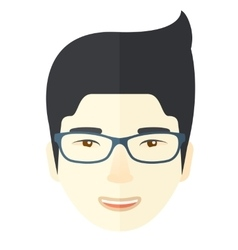 Asian face vector image