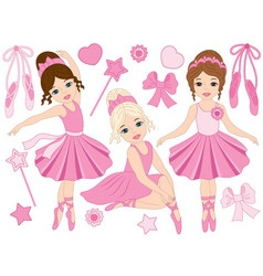 Ballerinas Set vector image