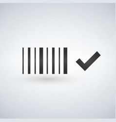 Best price bar code icon black and white barcode vector