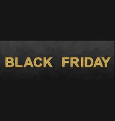 black friday glittering lettering vector image