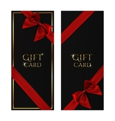Black gift voucher templates vector image