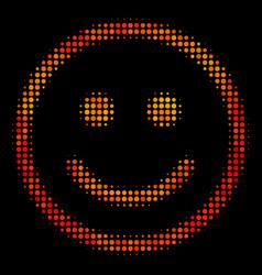 Bright pixel glad smiley icon vector