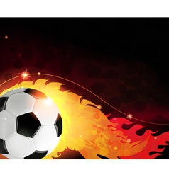 Burning ball abstract background vector