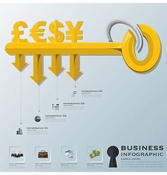 Business and financial with key shape infographic vector