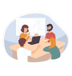 Business seminar or meeting company workers vector