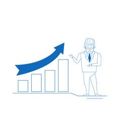 Businessman financial graphs business analytics vector