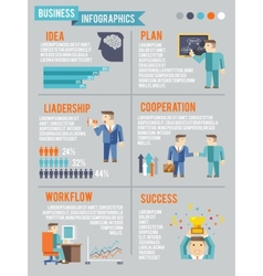 Businessman Working Infographics vector