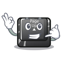 Call me button page up keyboard mascot vector