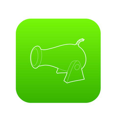 Cannon icon green vector