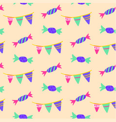 celebration candy seamless pattern vector image