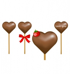 Chocolate lollipop vector