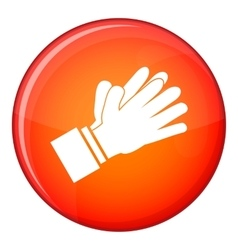 Clapping applauding hands icon flat style vector