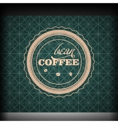 Coffee logo emblem retro design template vector image