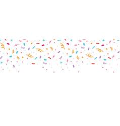 Colorful confetti border frame repeat pattern vector