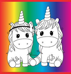 create your own unicorn - big collection unicorn vector image