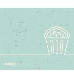 Creative popcorn Art template vector