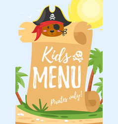 design for kids menu vector image