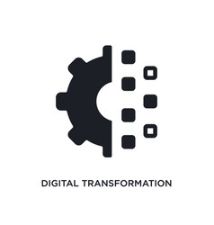 Digital transformation isolated icon simple vector