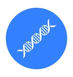 DNA code icon black Single medicine icon from the vector