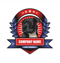dog training badge vector image