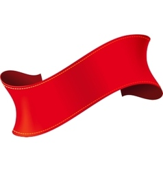 Elegant red ribbon vector image vector image