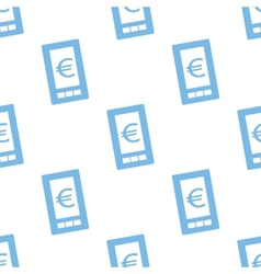 Euro phone seamless pattern vector image