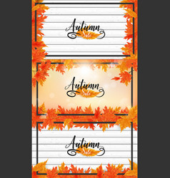 Fall or autumn background vector
