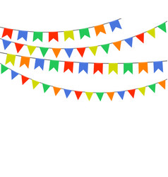 festive multicolored flags garlands of bunting vector image