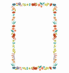 Floral frame isolated on white background vector