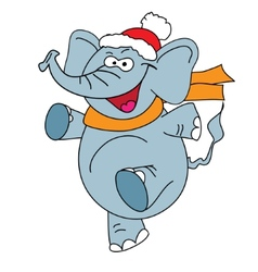 Funny elephant character on a white background vector image