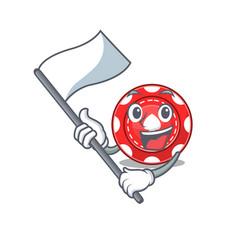 Funny gambling chips cartoon character style vector