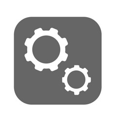 gears black icon vector image