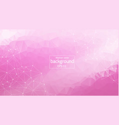 geometric pink white polygonal background vector image