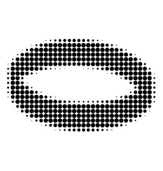 Gold ring halftone dotted icon vector