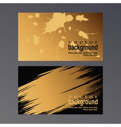 gold vcard vector image